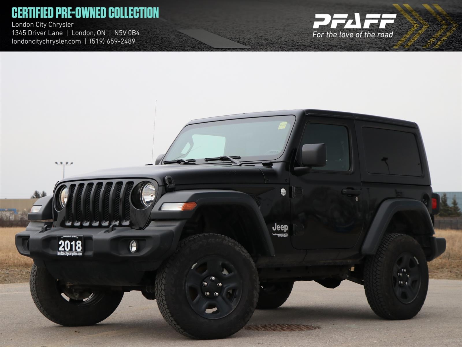 Used 2018 Jeep Wrangler in London,ON