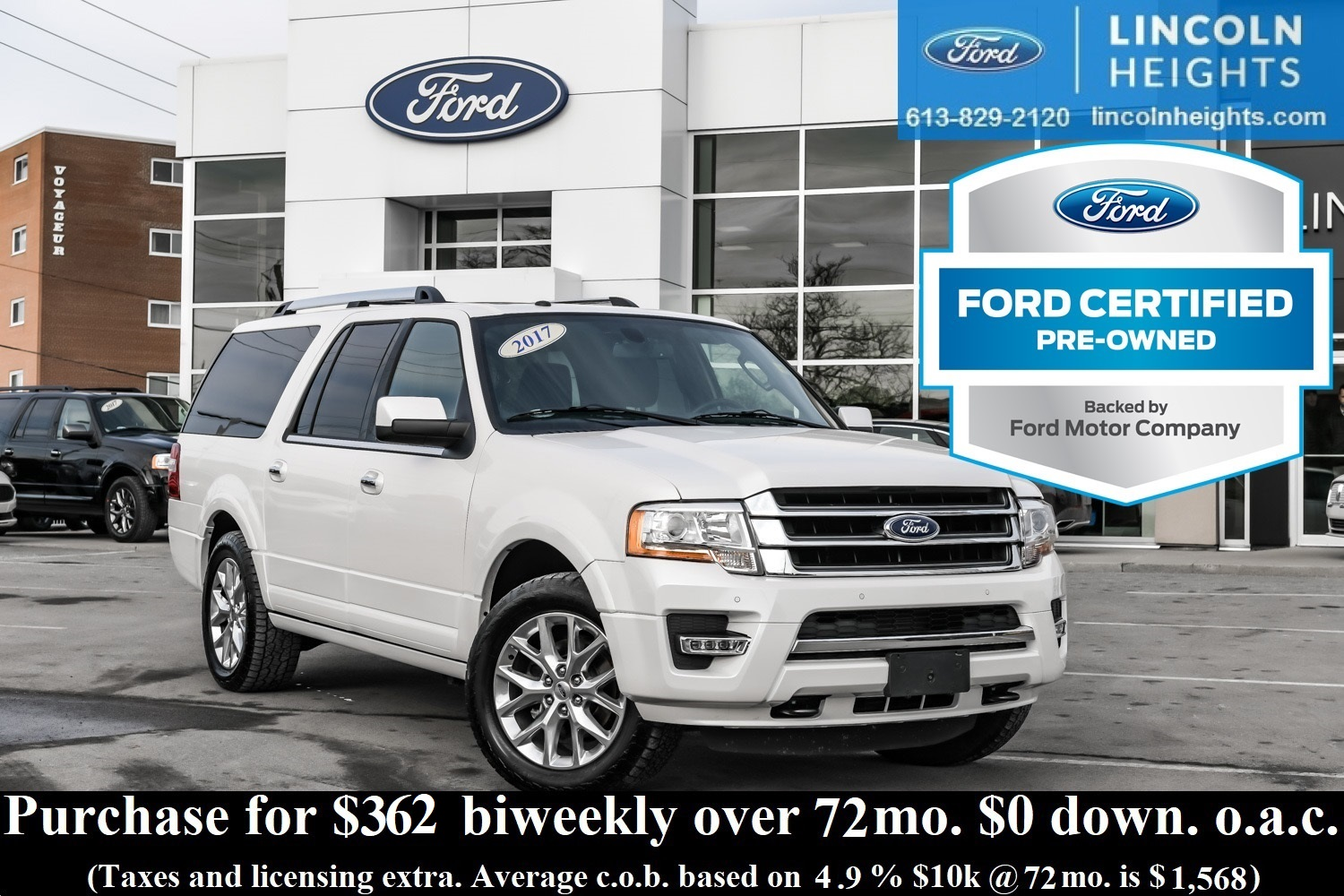 Pre Owned 2017 Ford Expedition Ltd 4x4 Max Cpo Leather Remote Starter Bluetooth Start