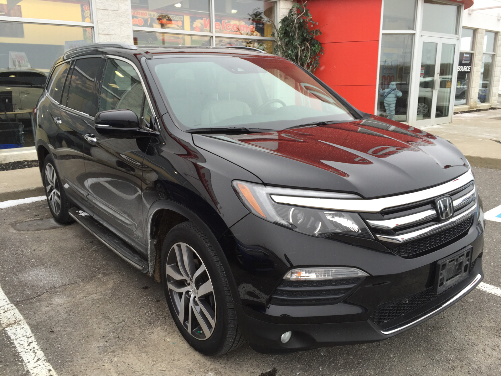 2016 honda pilot touring 4wd running boards trailer tow package