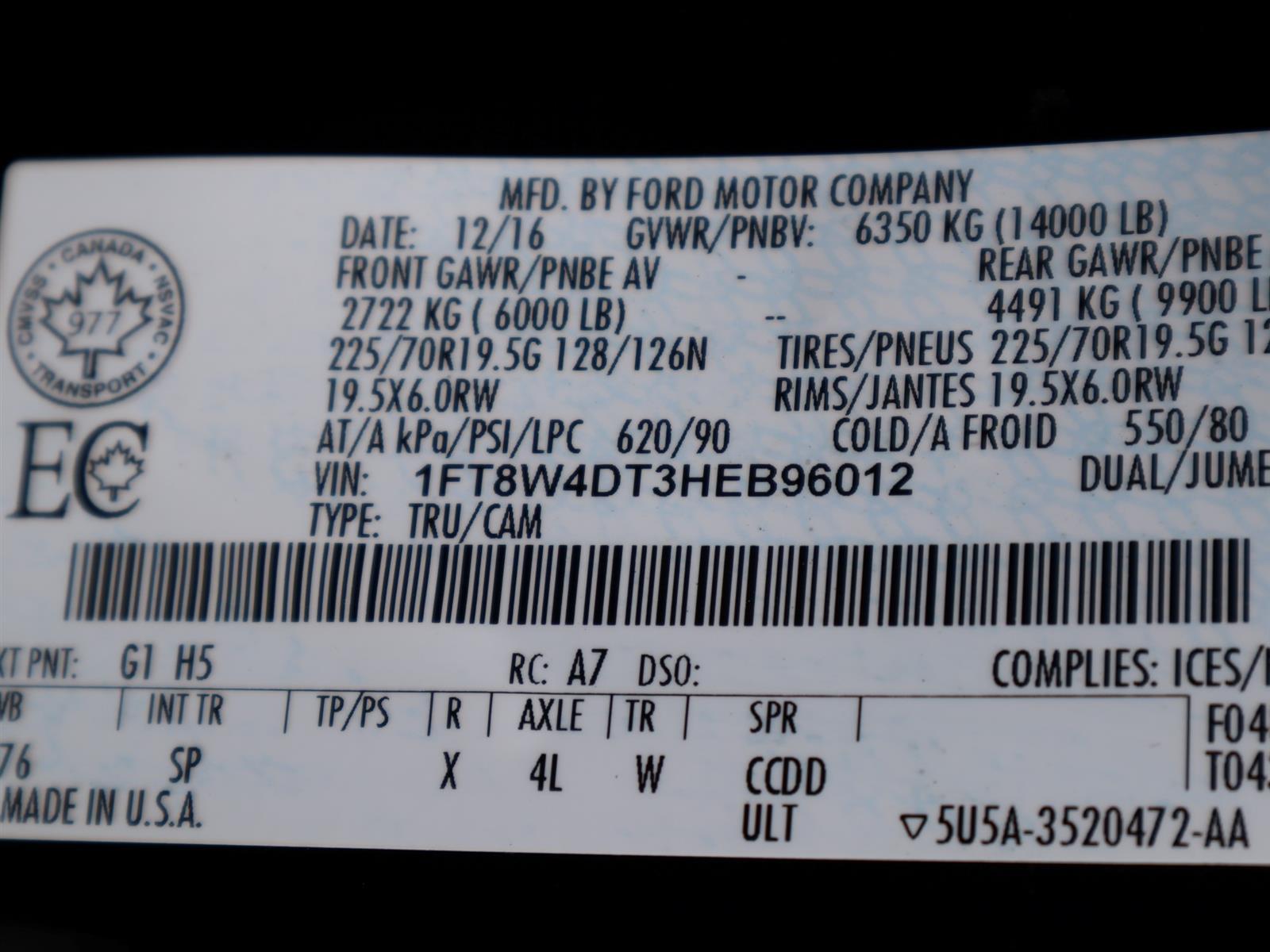 2017 Ford SUPER DUTY F-450 DRW KING RANCH