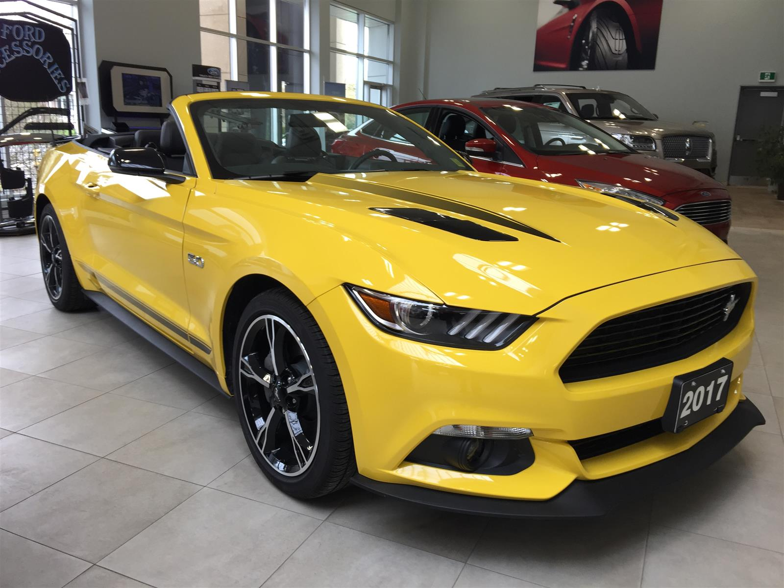 2017 Ford Mustang Gt Convertible Yellow 5 0l V8 Dohc 32v