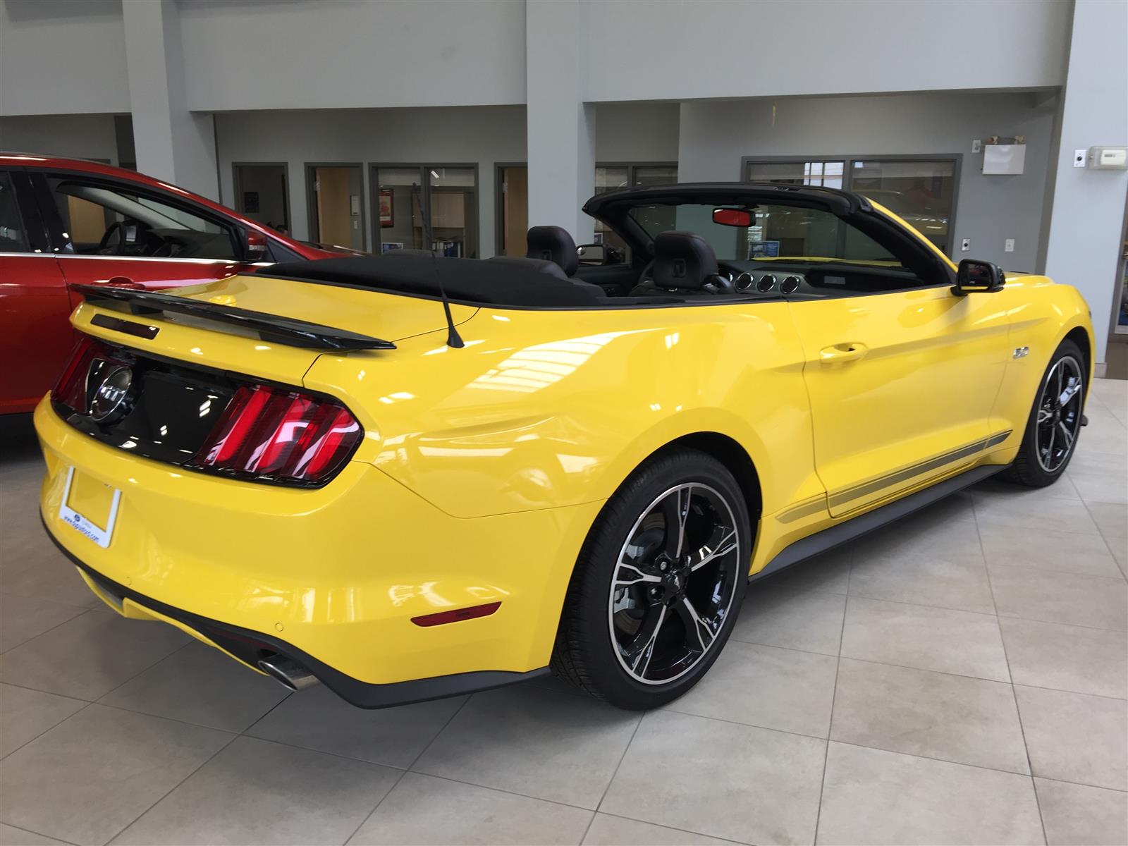2017 ford mustang gt convertible yellow 5 0l v8 dohc 32v dupuis