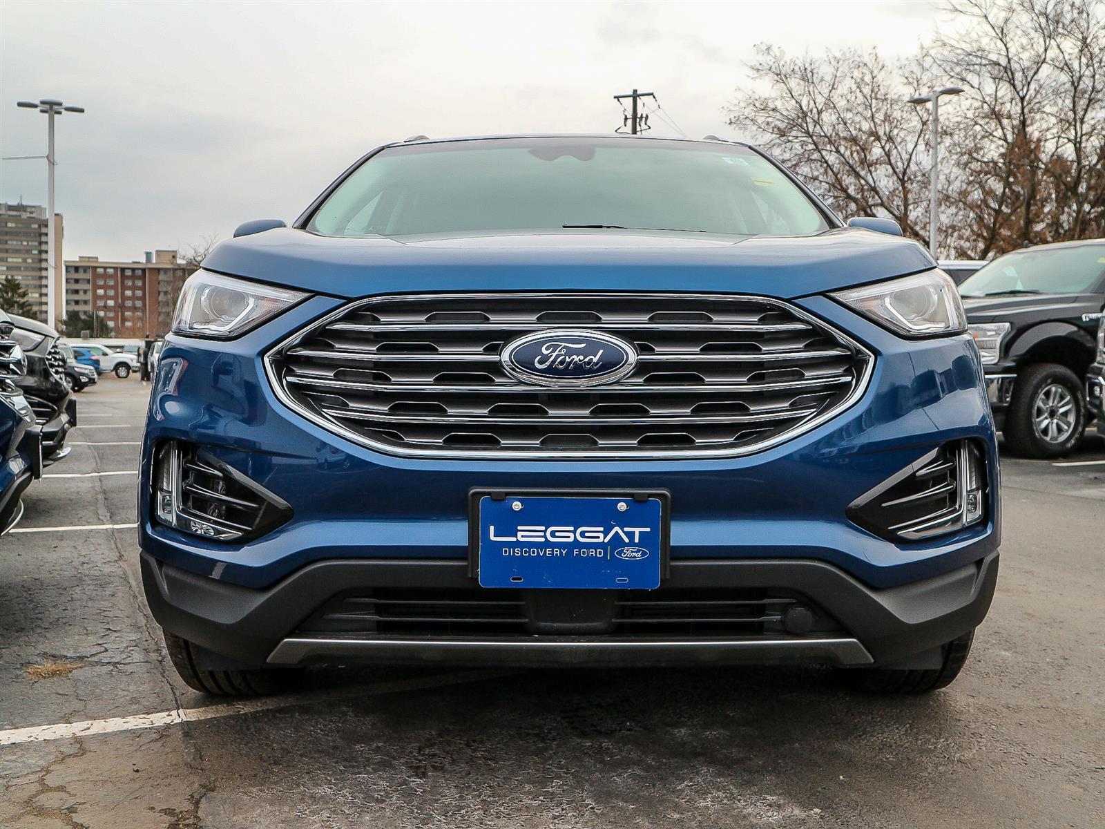 Leggat Discovery Ford | 2020 Ford Edge Titanium Atlas Blue ...
