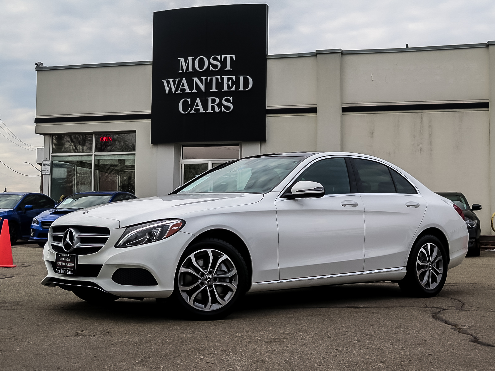 used 2018 Mercedes-Benz C300 car, priced at $35,962