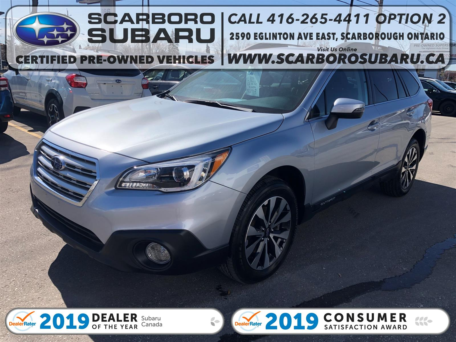 used 2016 Subaru Outback car, priced at $26,995