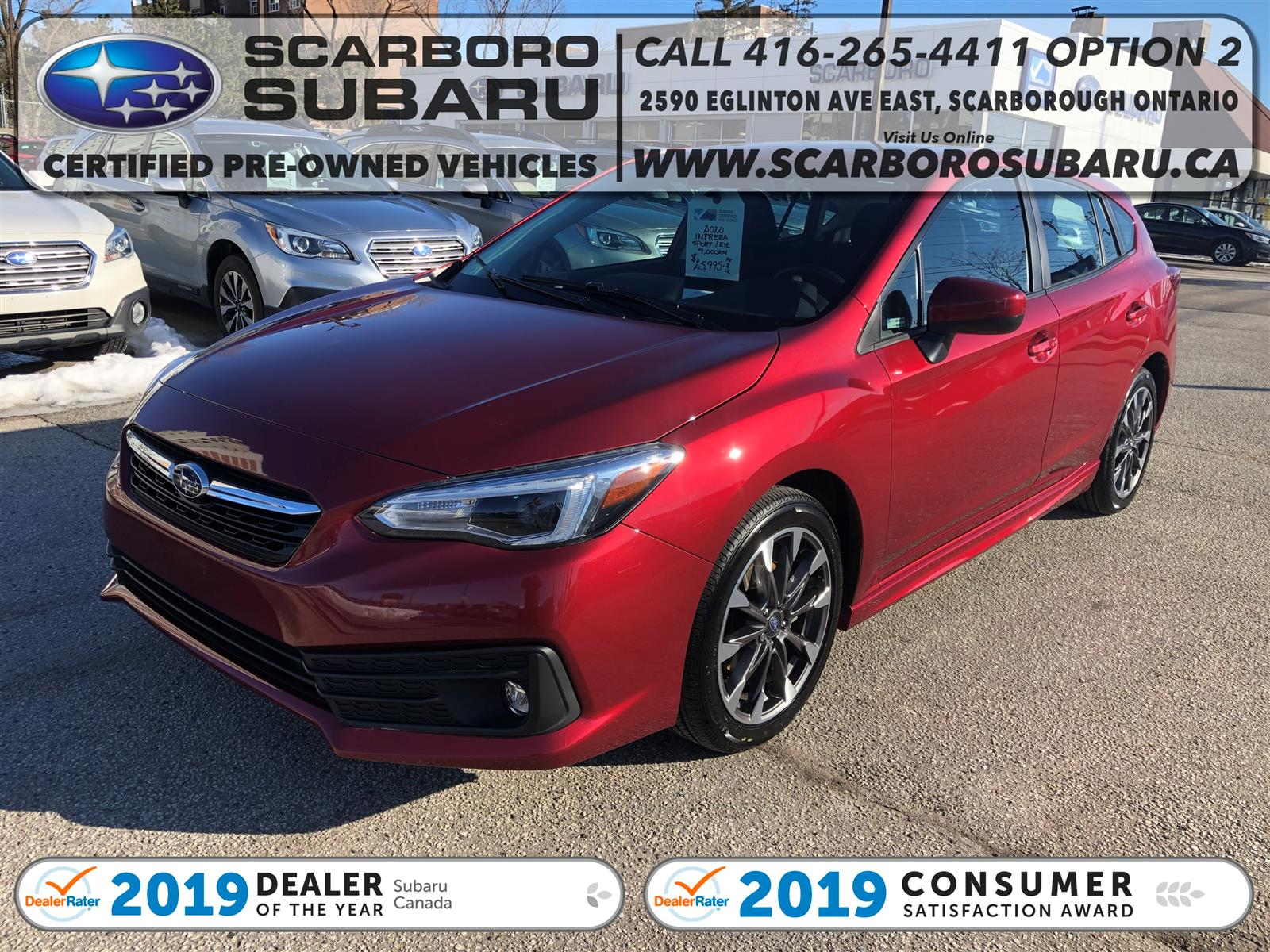 used 2020 Subaru Impreza car, priced at $25,995