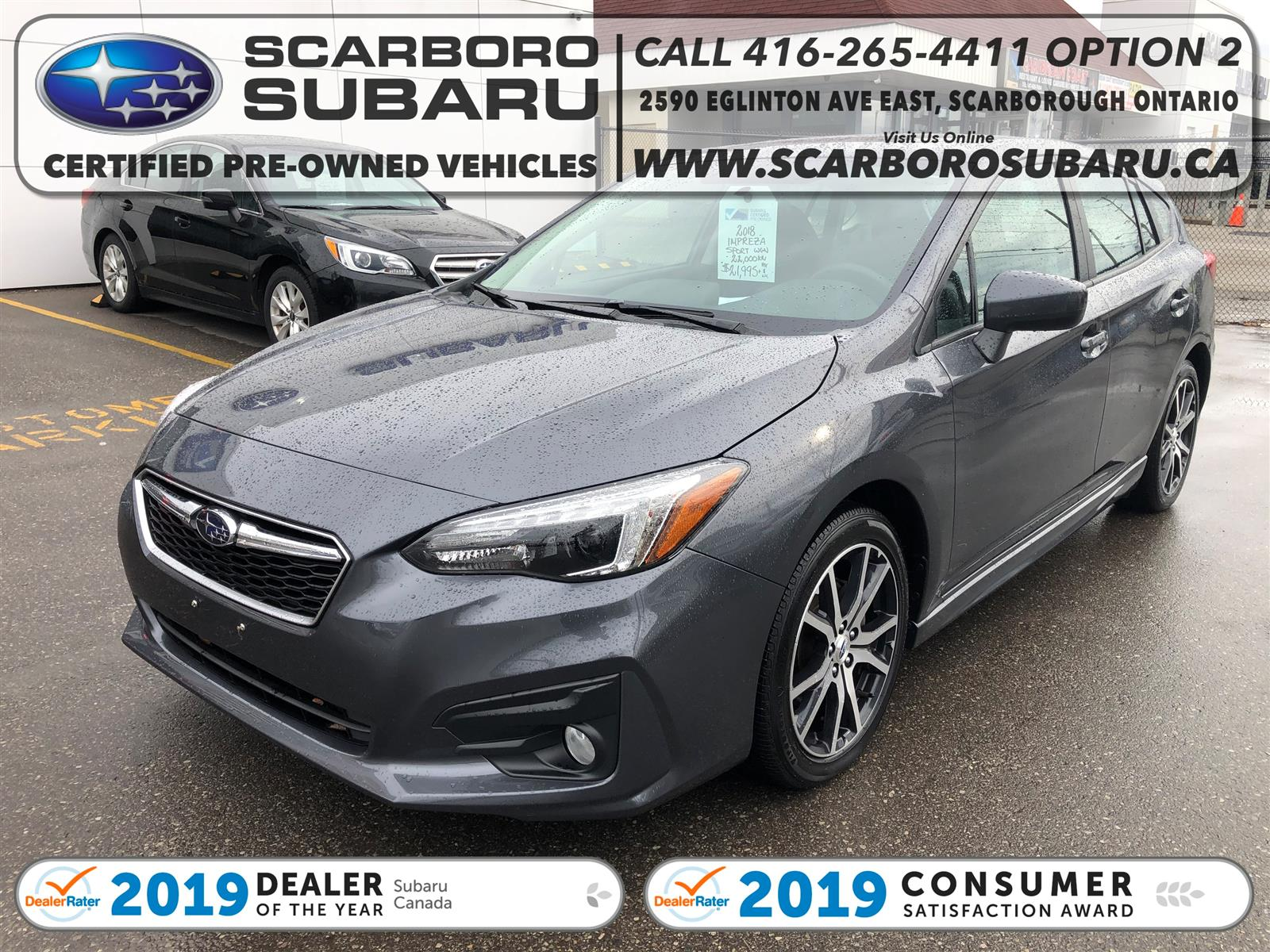 used 2018 Subaru Impreza car, priced at $21,995